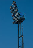 Floodlight.Stadium lights. Riflettore Royalty Free Stock Image