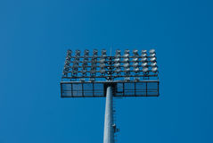 Floodlight.Stadium lights. Riflettore Stock Photo