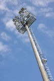 Floodlight at the stadium Royalty Free Stock Image