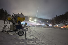 Floodlight winter sports in winterberg germany Stock Photos
