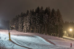 Floodlight winter sports in winterberg germany Royalty Free Stock Images