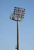 Floodlights. Typical football/ soccer stadium floodlights and tower Royalty Free Stock Images