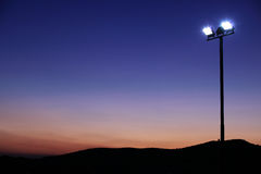 Free Floodlights At Sundown Royalty Free Stock Photography - 11030677