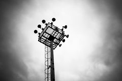 Floodlights. Floodlight on a factory site Stock Images