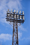 Floodlights at the stadium Royalty Free Stock Images