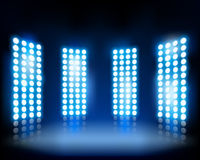 Floodlights. Vector illustration. Stock Photo