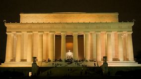 The floodlit exterior of the lincoln memorial in washington. Dc royalty free stock images