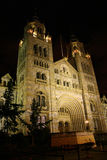 Floodlit Museum. Nighttime shot of London Natural History Museum Royalty Free Stock Photo