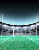 Floodlit Stadium Night Royalty Free Stock Images