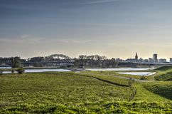 Floodplains blisko Nijmegen holandie Obraz Stock