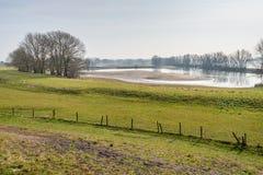 Floodplains of a Dutch river Stock Photos