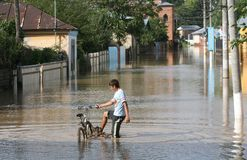 Floods royalty free stock photo