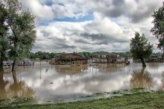 Floods in Belgrade Stock Images