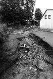 After floods in Chrastava city, near Liberec Stock Photos