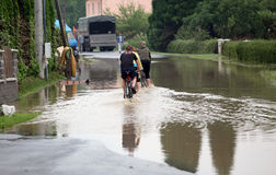 Floods in Czech republic Royalty Free Stock Photography