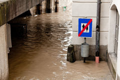 Floods and flooding in Steyr, Stock Photo