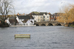 Floods at Fordingbridge stock image