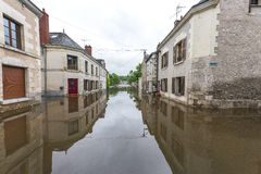Floods in Loire valley Stock Photo