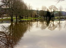 Floods in North Wales Royalty Free Stock Image