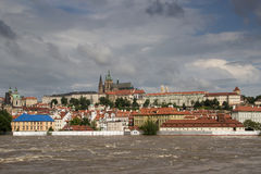 Floods in Prague Royalty Free Stock Images