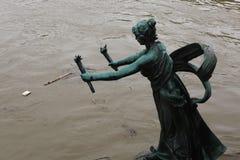 Floods in Prague, Czech Republic, June 2013 Royalty Free Stock Photo