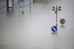Floods in Prague, Czech Republic, June 2013 Stock Image