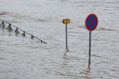 Floods in Prague, Czech Republic, June 2013 Royalty Free Stock Photo