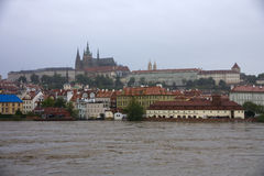 Floods in prague Royalty Free Stock Photos