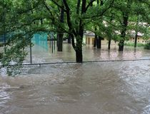 Floods in Prague 2013 Stock Photos