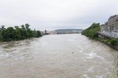 Floods Prague June 2013 Royalty Free Stock Images