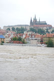 Floods in Prague, 4th june 2013 Stock Photo