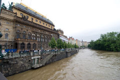Floods in Prague, 4th june 2013 Stock Photography