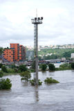 Floods in Prague, 4th june 2013 Royalty Free Stock Photos