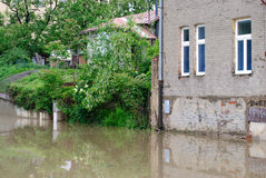 Floods in Prague, 3th june 2013 Royalty Free Stock Photography