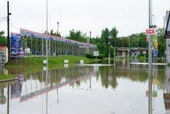 Floods in Prague, 3th june 2013 Stock Photos