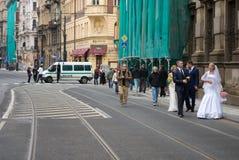 Floods in Prague, 4th june 2013 Stock Photo