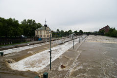 Floods in Prague, 3th june 2013 Royalty Free Stock Photos