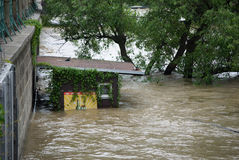 Floods in Prague, 4th june 2013 Royalty Free Stock Photo
