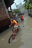 Floods in sukoharjo Stock Photography