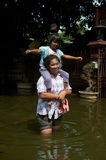 Floods in Thailand. Stock Images