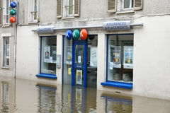 Floods on the town of nemours Stock Image
