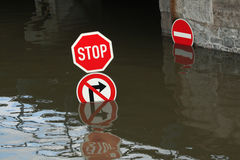 Floods in Usti nad Labem, Czech Republic. Royalty Free Stock Image