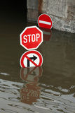 Floods in Usti nad Labem, Czech Republic. Stock Image
