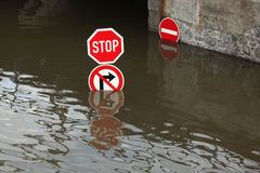 Floods in Usti nad Labem, Czech Republic. Royalty Free Stock Image