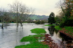 Floods in Wales Royalty Free Stock Photos