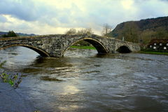 Floods in Wales Royalty Free Stock Images