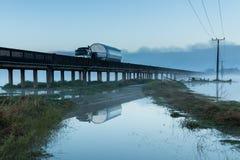 Floodway Bridge Whirokino Stock Images
