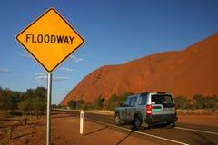 Floodway in der Wüste lizenzfreie stockbilder