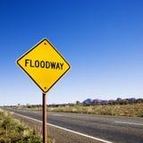 floodway obszarów wiejskich Fotografia Royalty Free