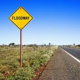 Floodway sign Australia Royalty Free Stock Photography